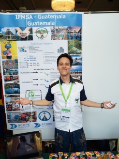 Daniel Sierra and his poster at the MM2019 in Slovenia